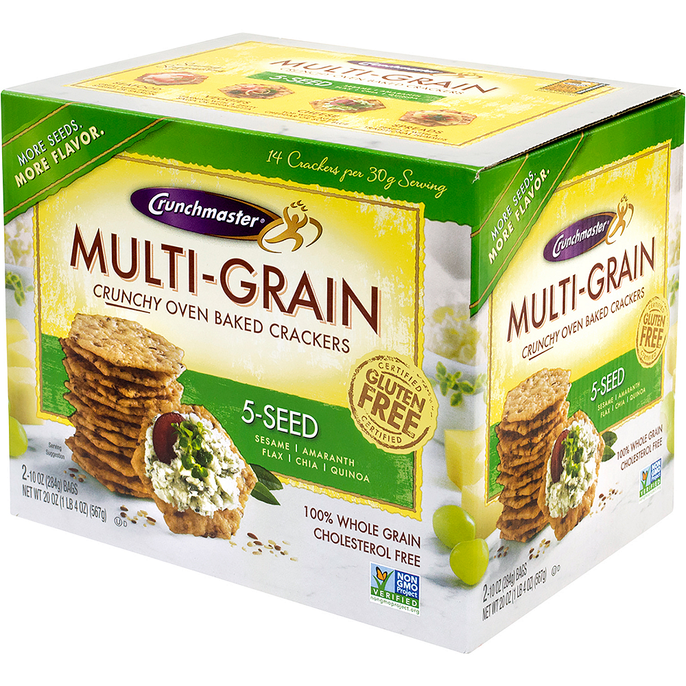 Crunchmaster 5-Seed Multi-Grain Crackers Image #3