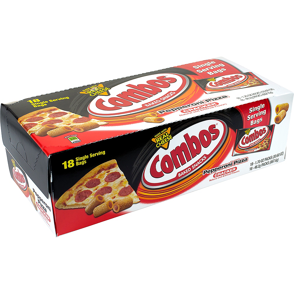 Combos Pepperoni Pizza Cracker Baked Snacks 18ct Image #1