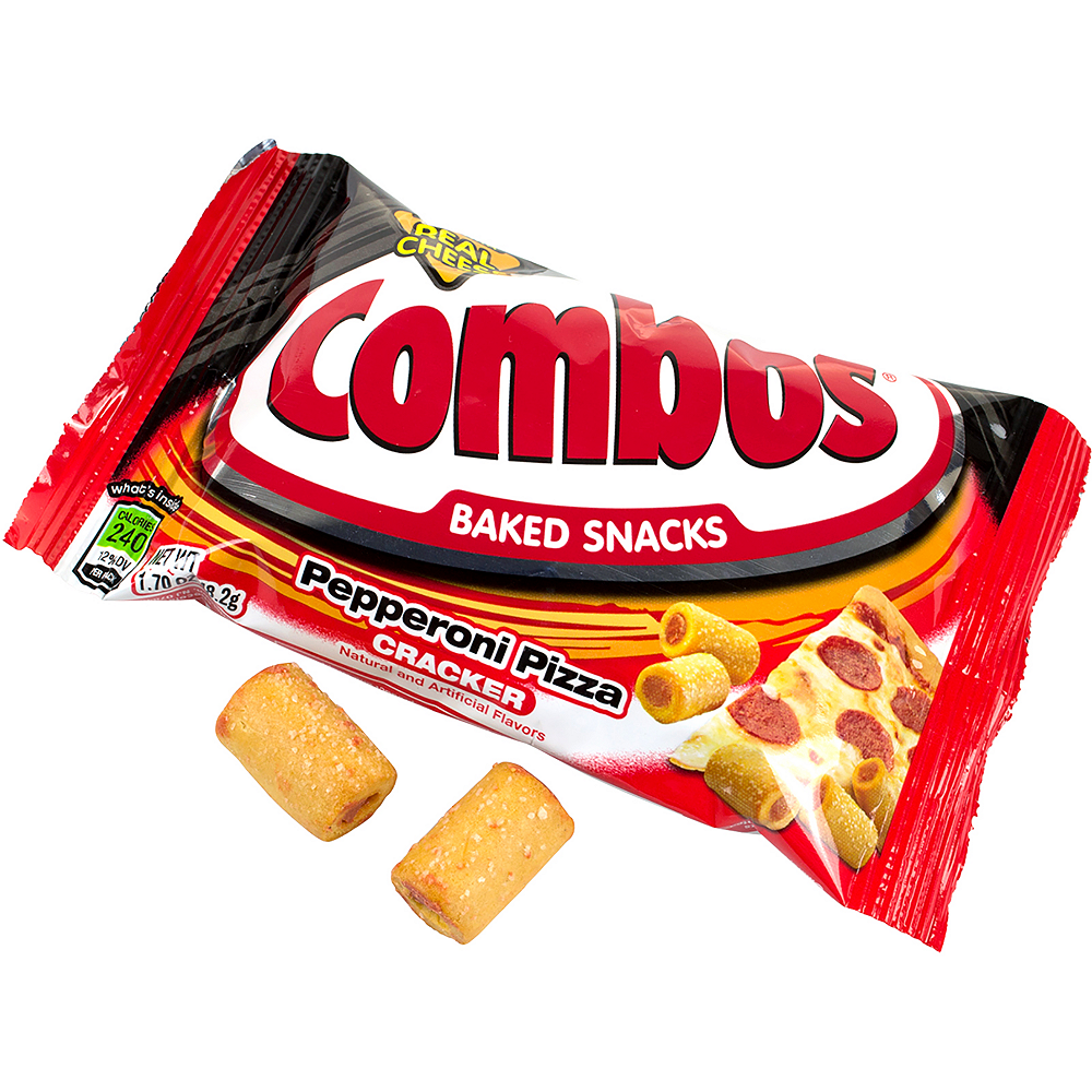 Combos Pepperoni Pizza Cracker Baked Snacks 18ct Image #2