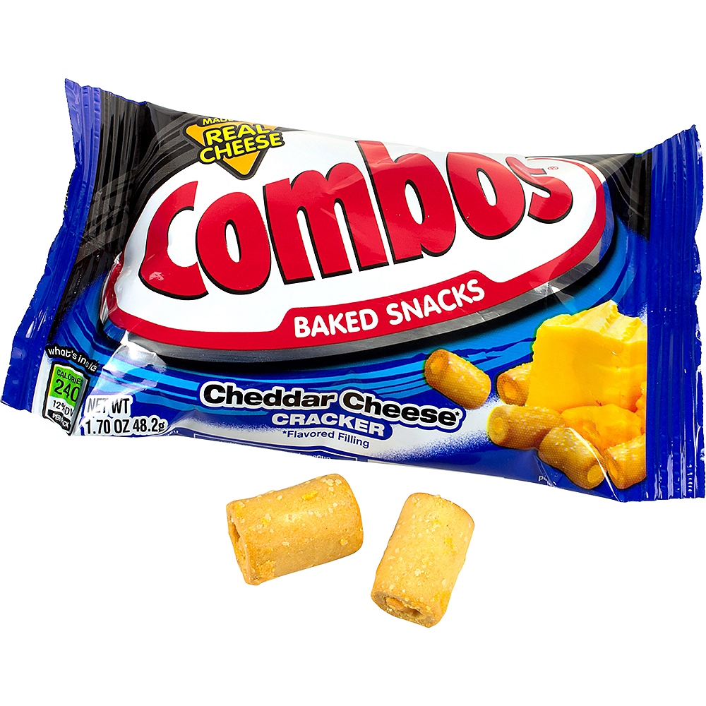 Combos Cheddar Cheese Cracker Baked Snacks 18ct Image #1