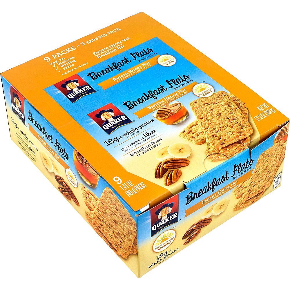 Quaker Banana Honey Nut Breakfast Flats 18ct Image #1
