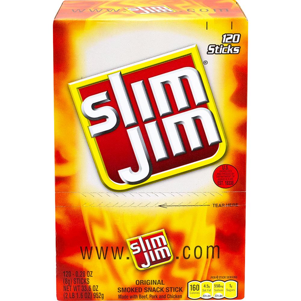 Slim Jim Original Beef Jerky Meat Sticks 120ct Image #4
