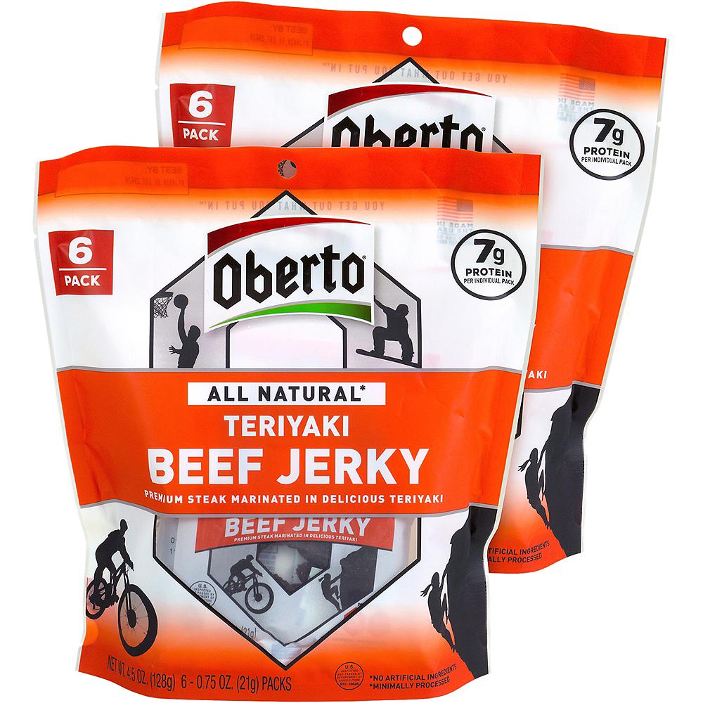 Oberto Teriyaki All Natural Beef Jerky 12ct Image #1