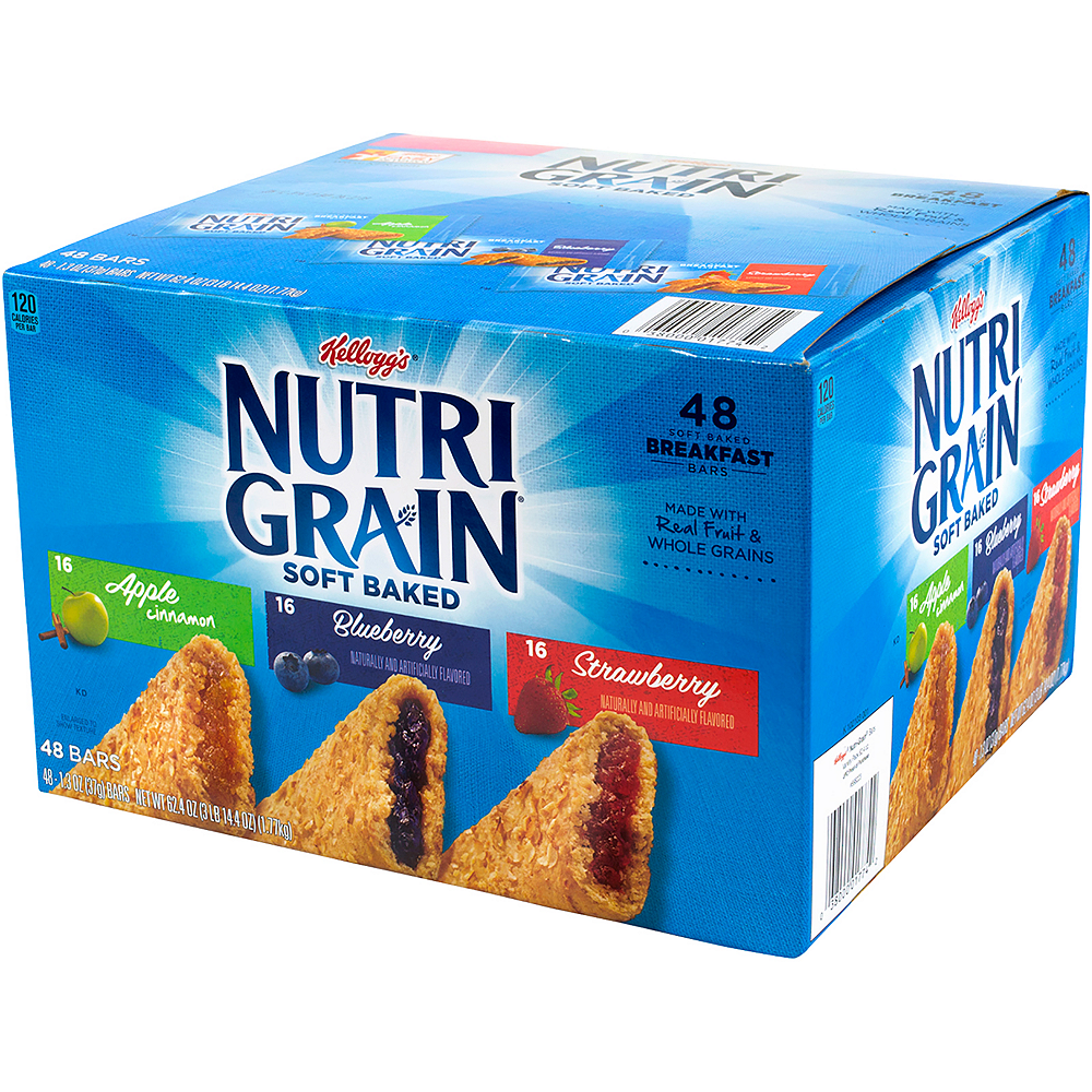 Nav Item for Kellogg's Assorted Nutri Grain Soft Baked Breakfast Bars 48ct Image #1