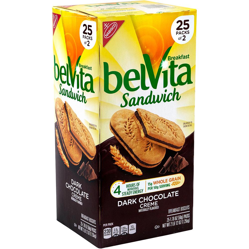 Belvita Dark Chocolate Creme Breakfast Sandwiches 25ct Image #1