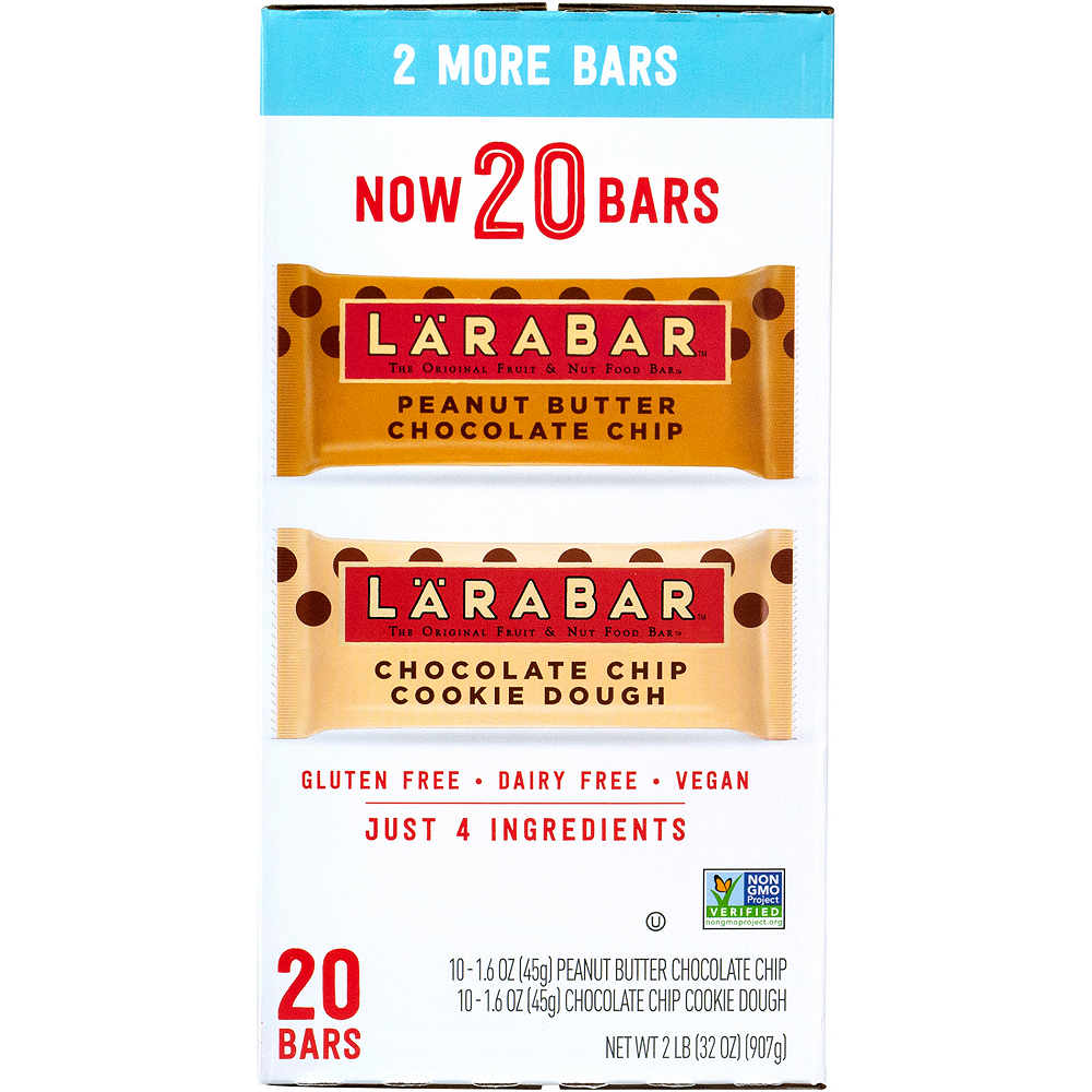 Larabar Chocolate Chip Cookie Dough & Peanut Butter Chocolate Chip Variety Pack 20ct Image #2
