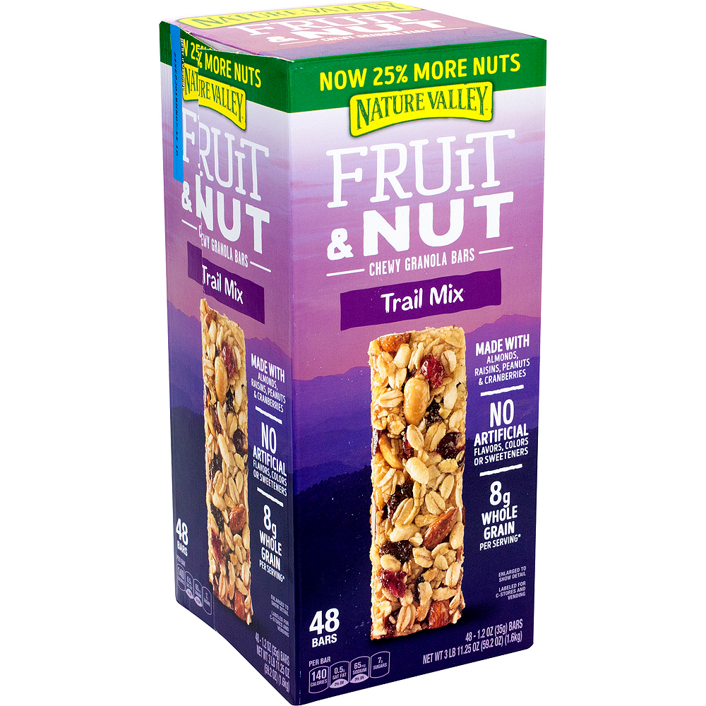 Nature Valley Trail Mix Fruit & Nut Chewy Granola Bars 48ct Image #1