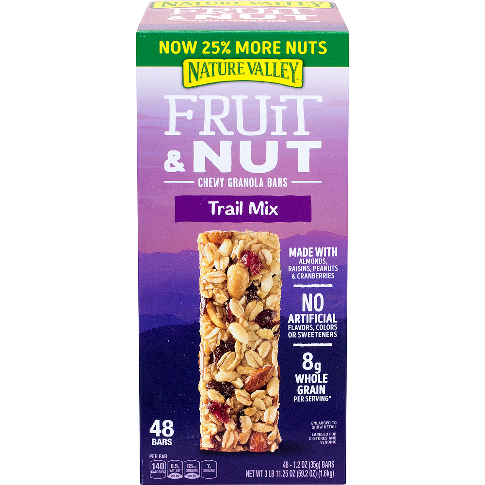 Nature Valley Trail Mix Fruit & Nut Chewy Granola Bars 48ct Image #3
