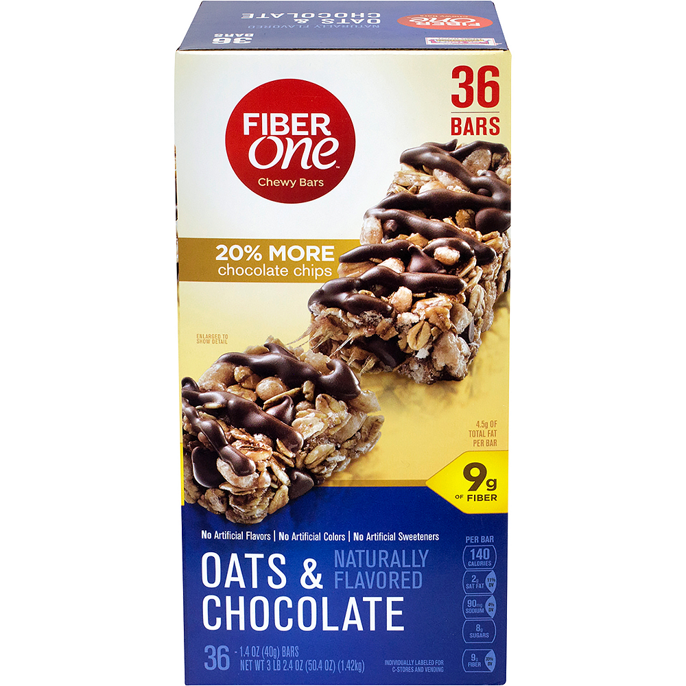 Fiber One Oats & Chocolate Chewy Bars 36ct Image #3