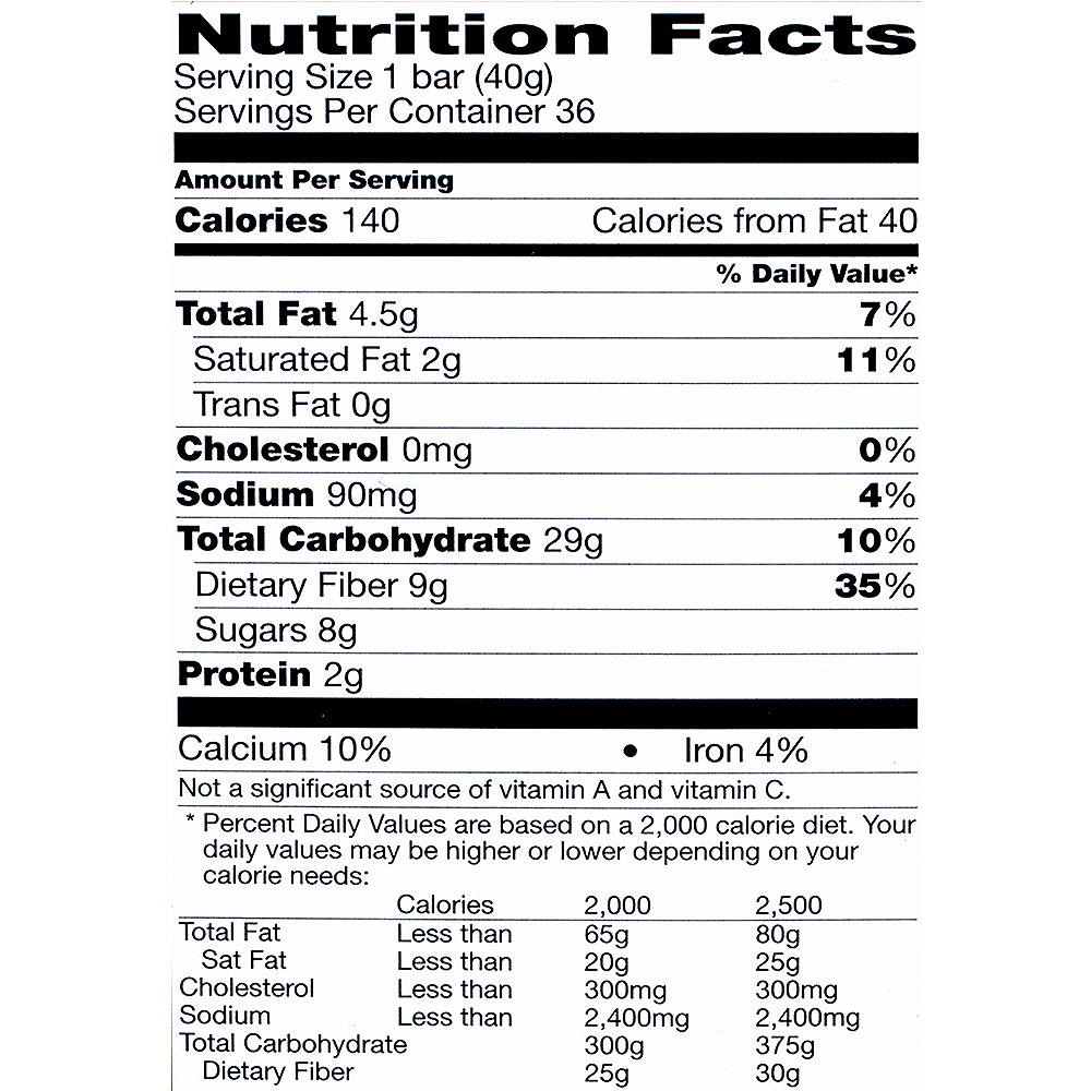 Fiber One Oats & Chocolate Chewy Bars 36ct Image #5
