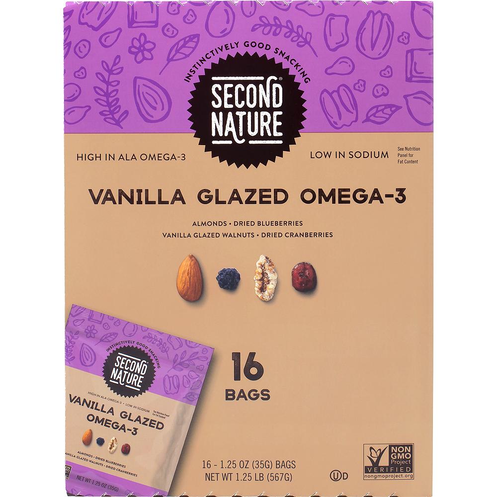 Second Nature Vanilla Glazed Omega-3 Nut Mix Packs 16ct Image #1