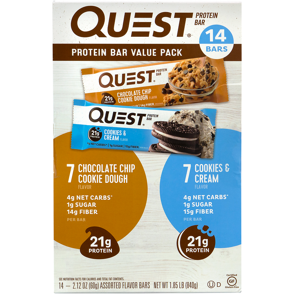 Quest Protein Bar Value Pack 14ct Image #1