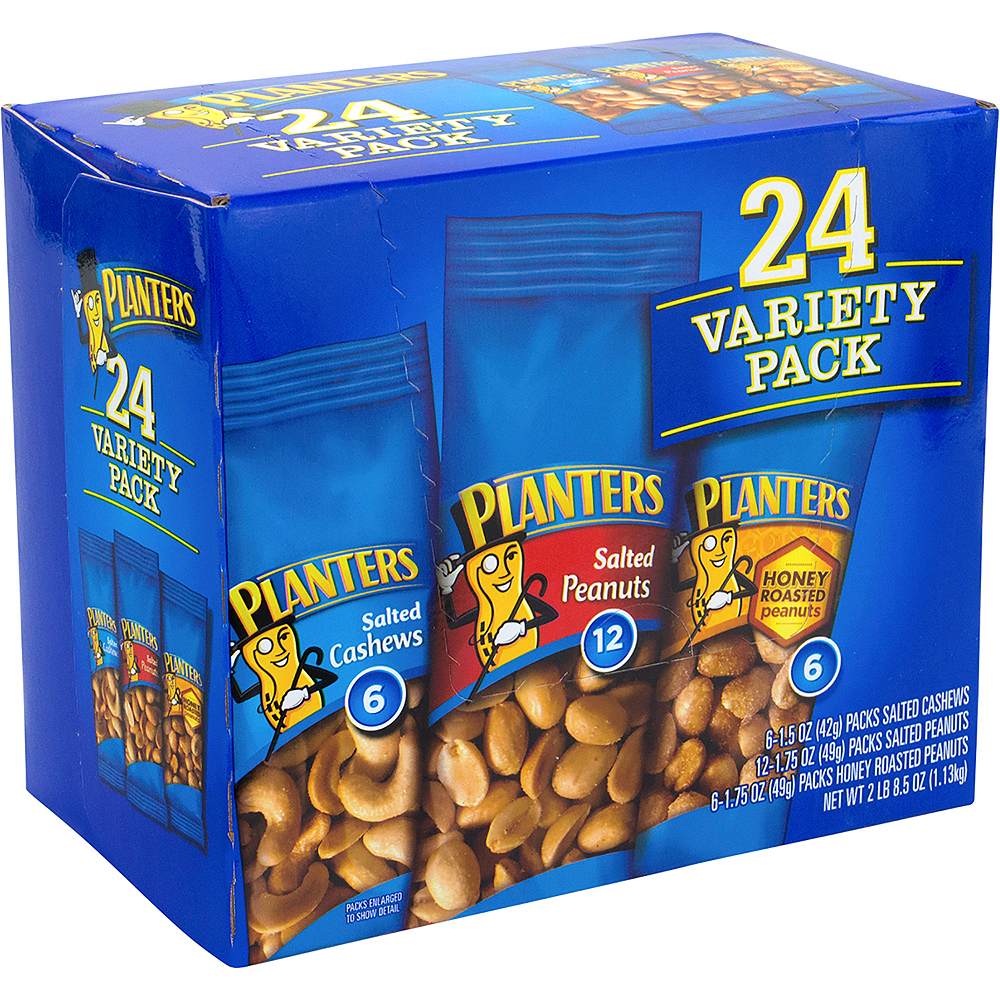 Planters Cashews & Peanuts Variety Pack 24ct Image #1