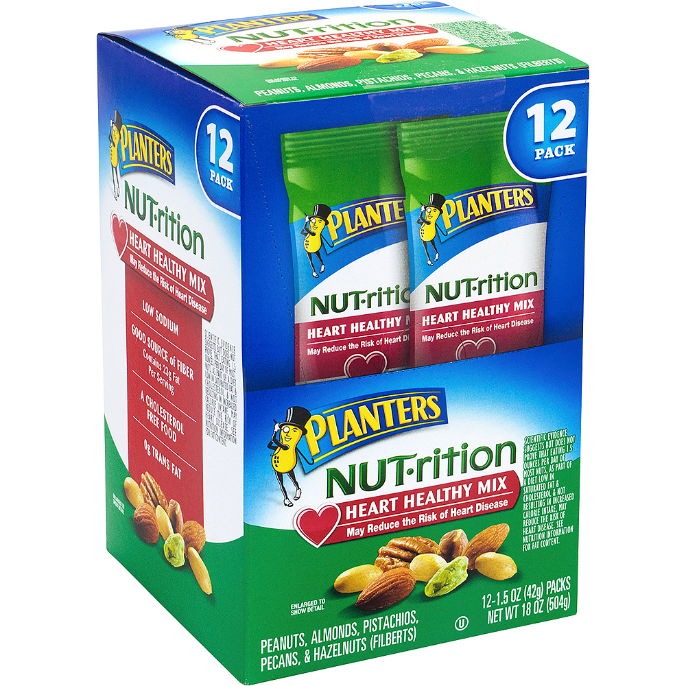 Planters Nut-rition Heart Healthy Mix Packs 12ct Image #1