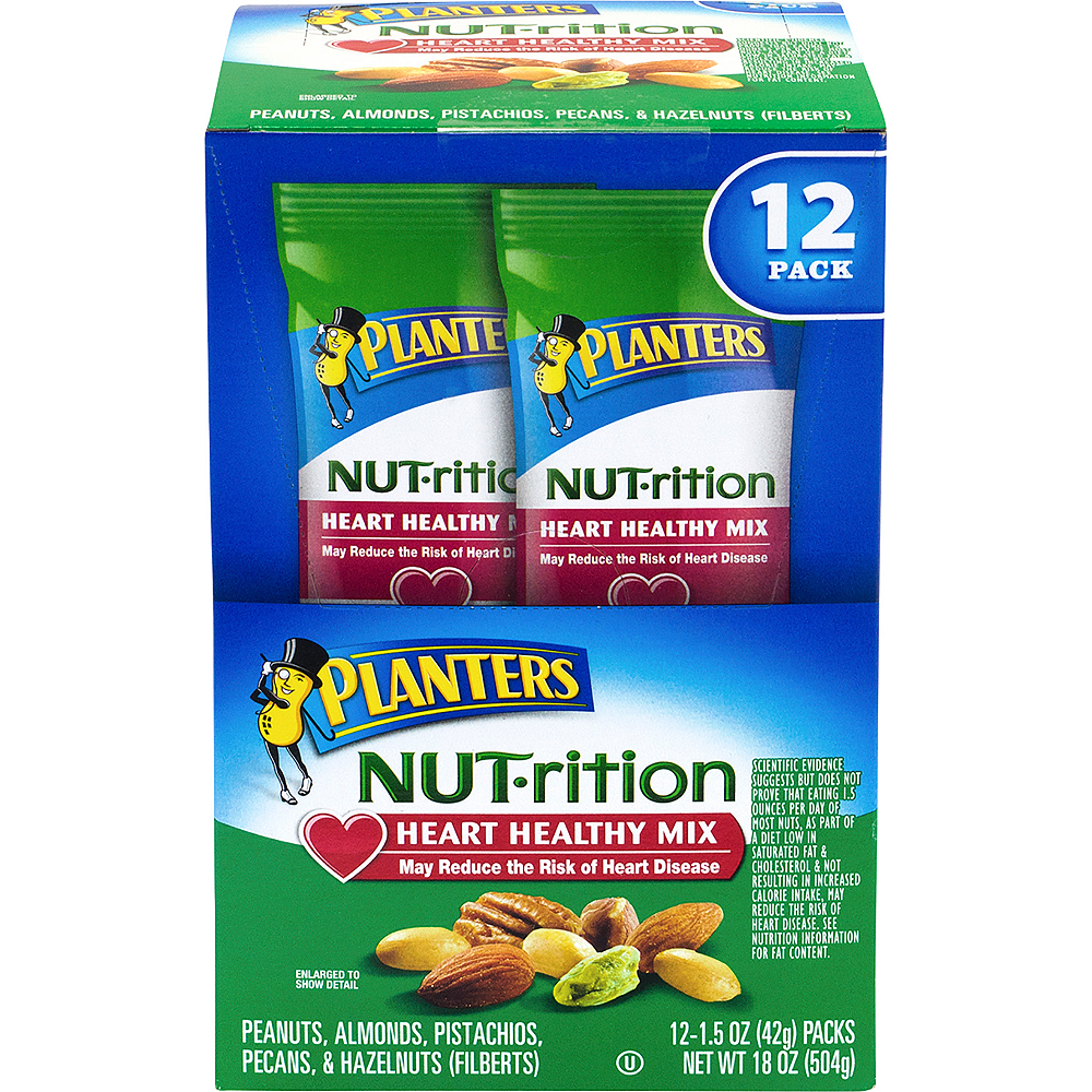 Planters Nut-rition Heart Healthy Mix Packs 12ct Image #3