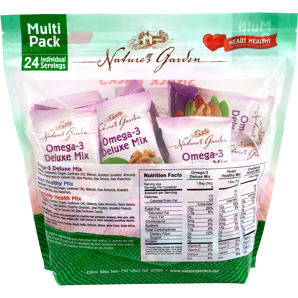 Nature's Garden Healthy Trail Mix Snack Packs 24ct Image #2