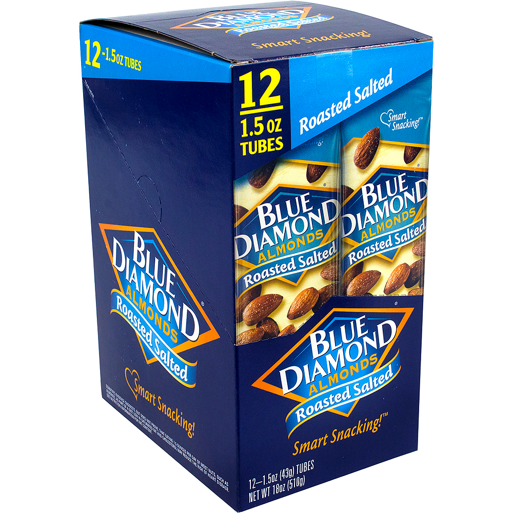 Nav Item for Blue Diamond Almonds Roasted Salted Packs 12ct Image #1