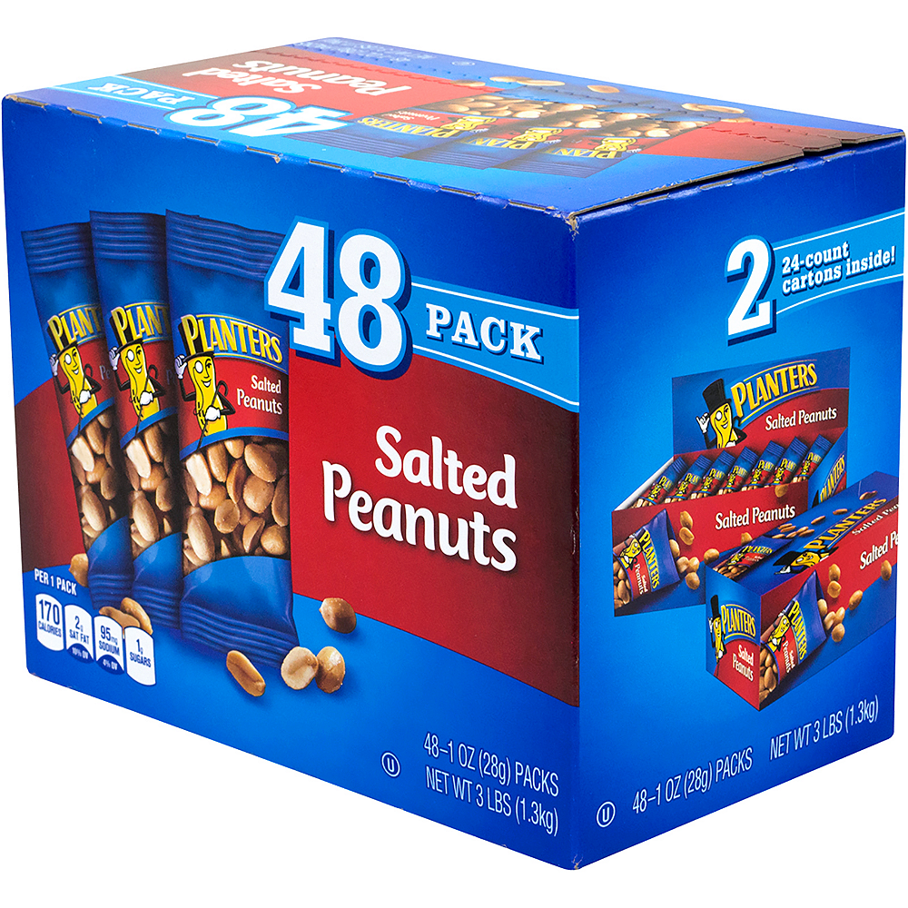 Nav Item for Planters Salted Peanut Packs 48ct Image #1