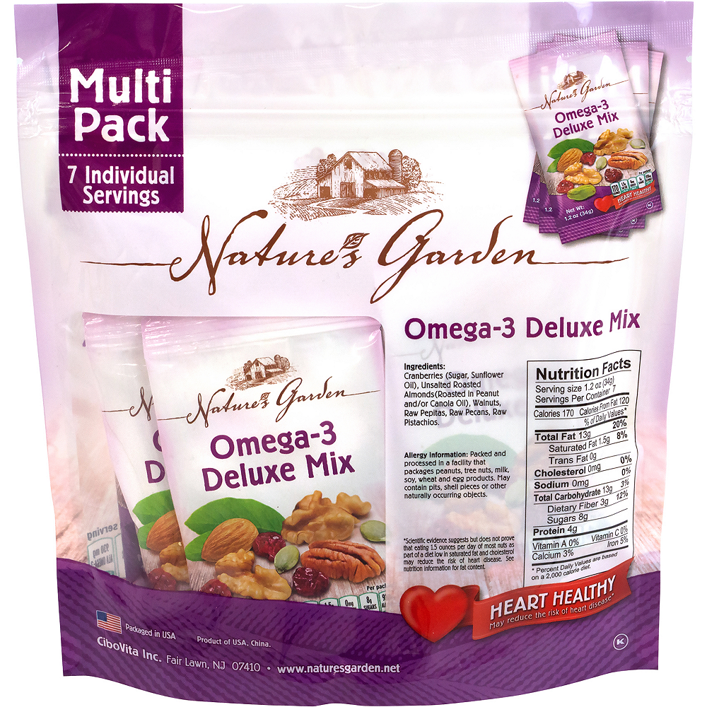 Nature's Garden Omega-3 Deluxe Mix Multi Pack 42ct Image #2