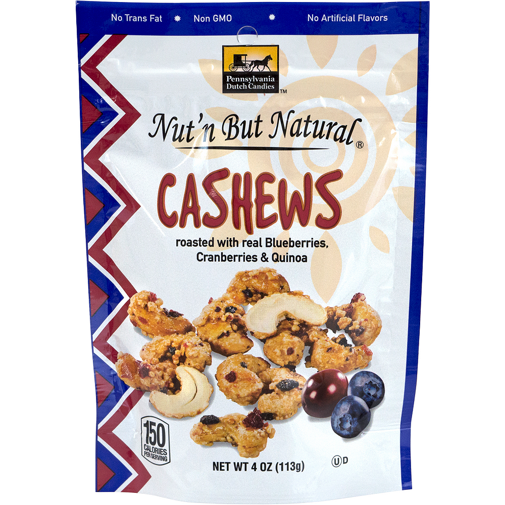 Nut'n But Natural Roasted Cashews Mix Packs 4ct Image #1