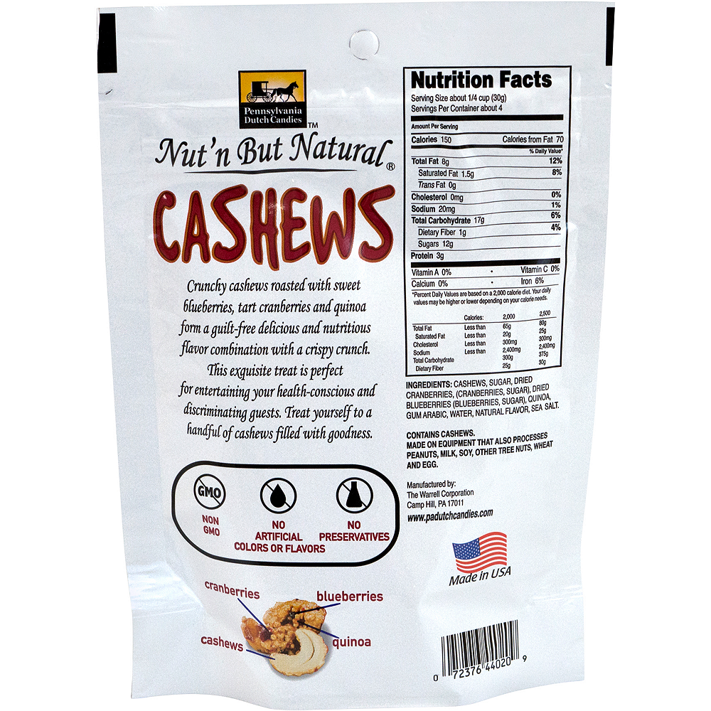 Nut'n But Natural Roasted Cashews Mix Packs 4ct Image #2