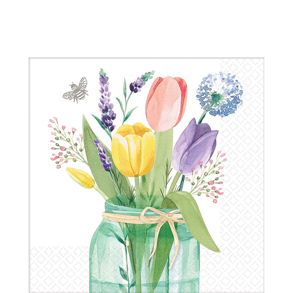 Tulip Garden Lunch Napkins 16ct Image #1