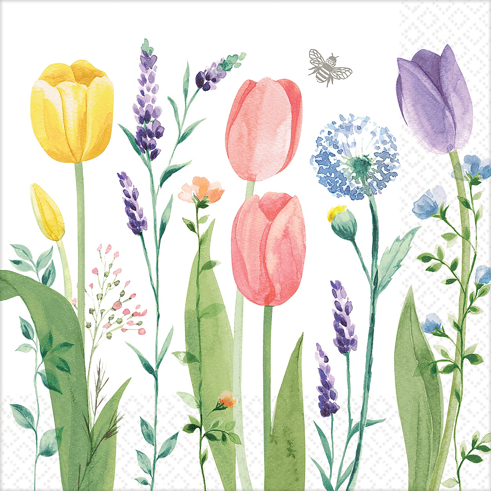 Tulip Garden Dinner Napkins 16ct Image #1