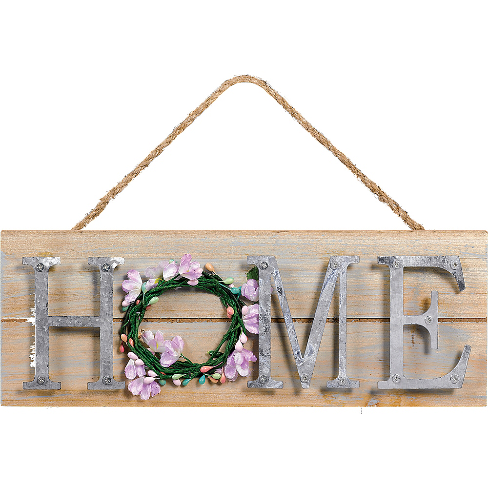 Pastel Spring Stacked Welcome Sign Image #1