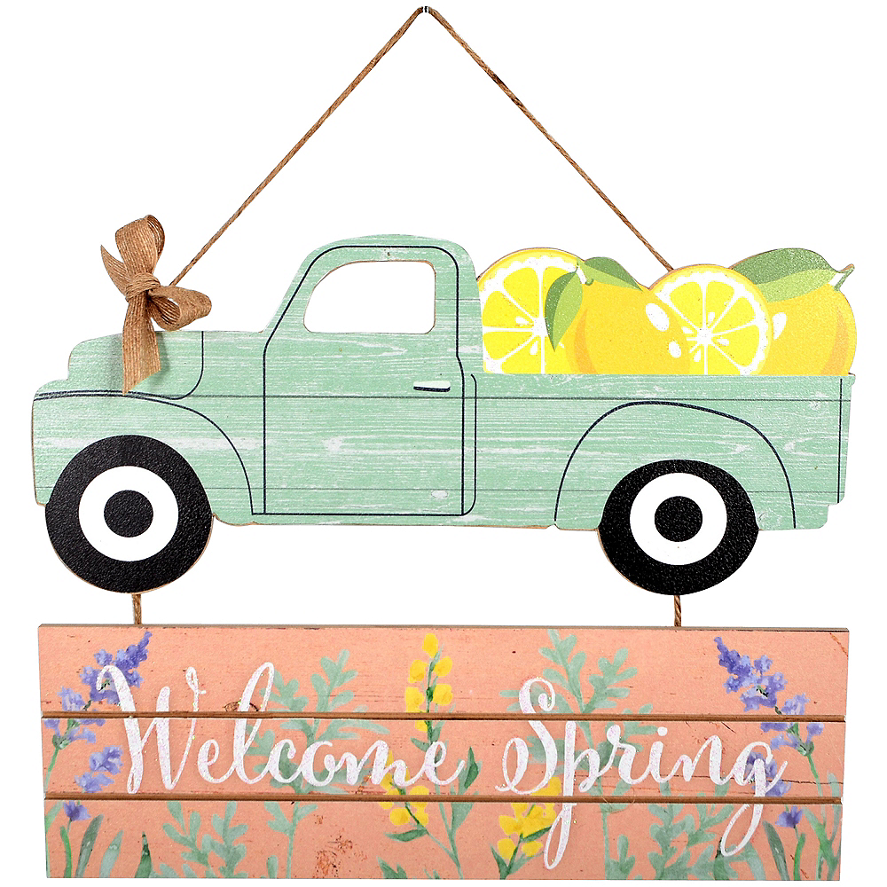 Mint Truck Welcome Spring Stacked Sign Image #1