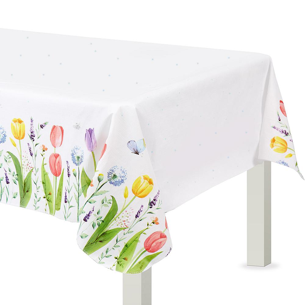Tulip Garden Flannel-Backed Vinyl Tablecloth Image #1
