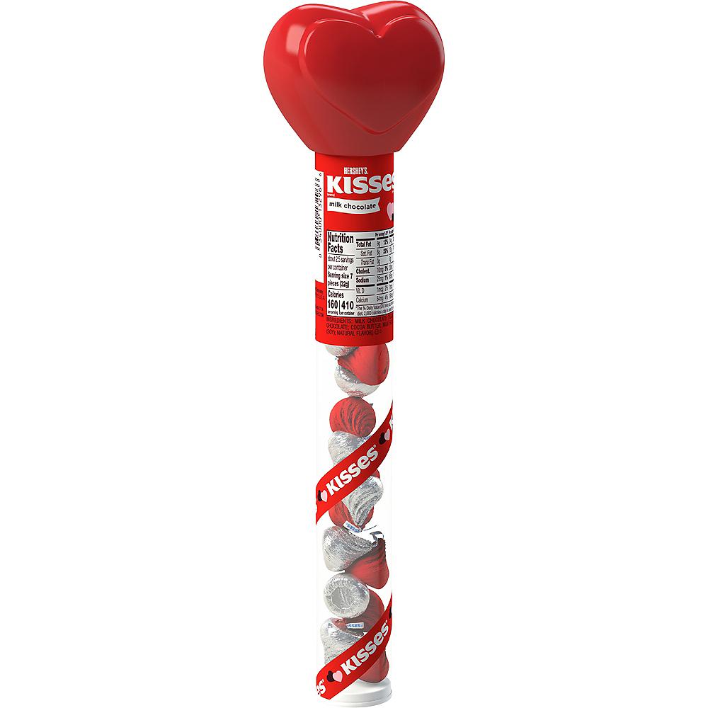 Milk Chocolate Hershey's Kisses Heart-Topped Cane 17pc Image #1