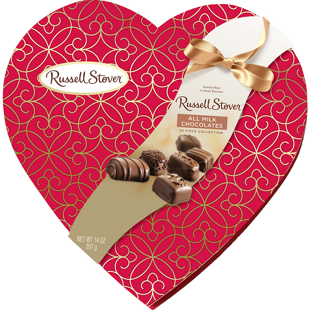 Milk Chocolate Russell Stover Valentine's Day Box 24pc Image #1