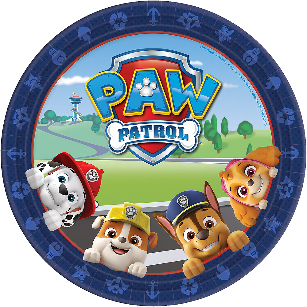 PAW Patrol Adventures Lunch Plates 8ct Image #1