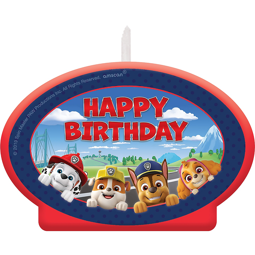 PAW Patrol Adventures Birthday Candle Image #1