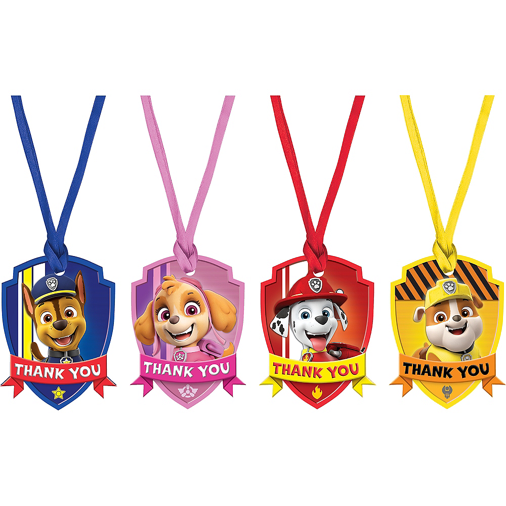 PAW Patrol Adventures Thank You Tags 8ct Image #1