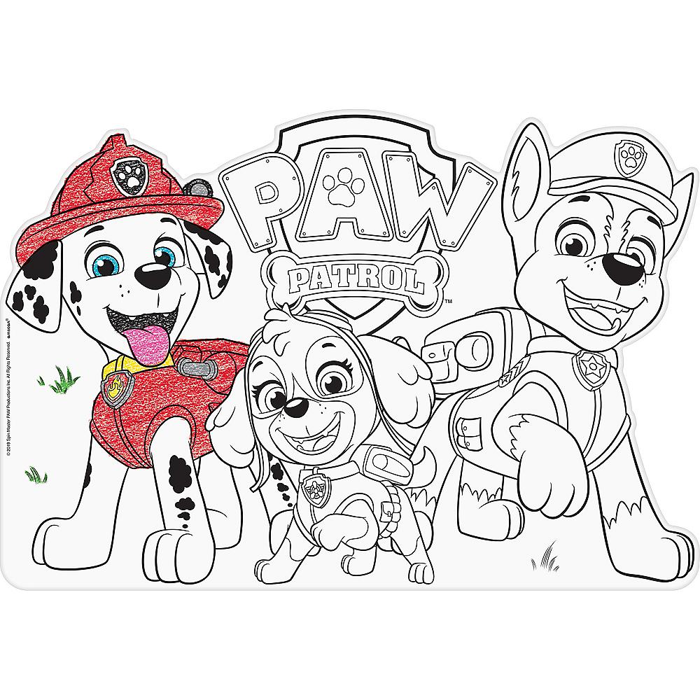 PAW Patrol Coloring Placemats 8ct Image #1