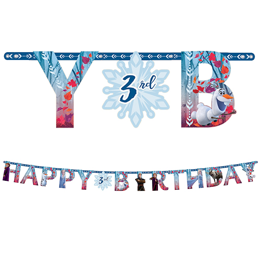 Frozen 2 Birthday Banner Kit Image #1