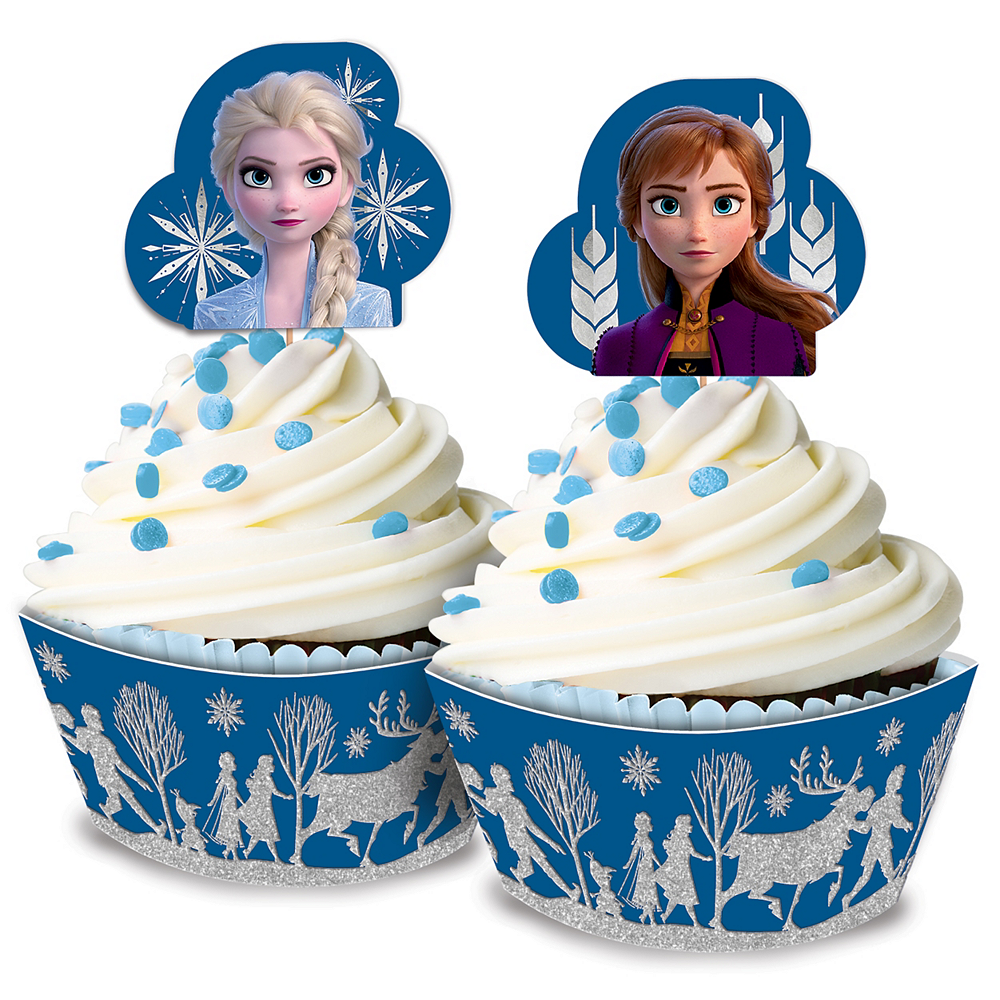 Glitter Frozen 2 Cupcake Kit for 24 Image #1