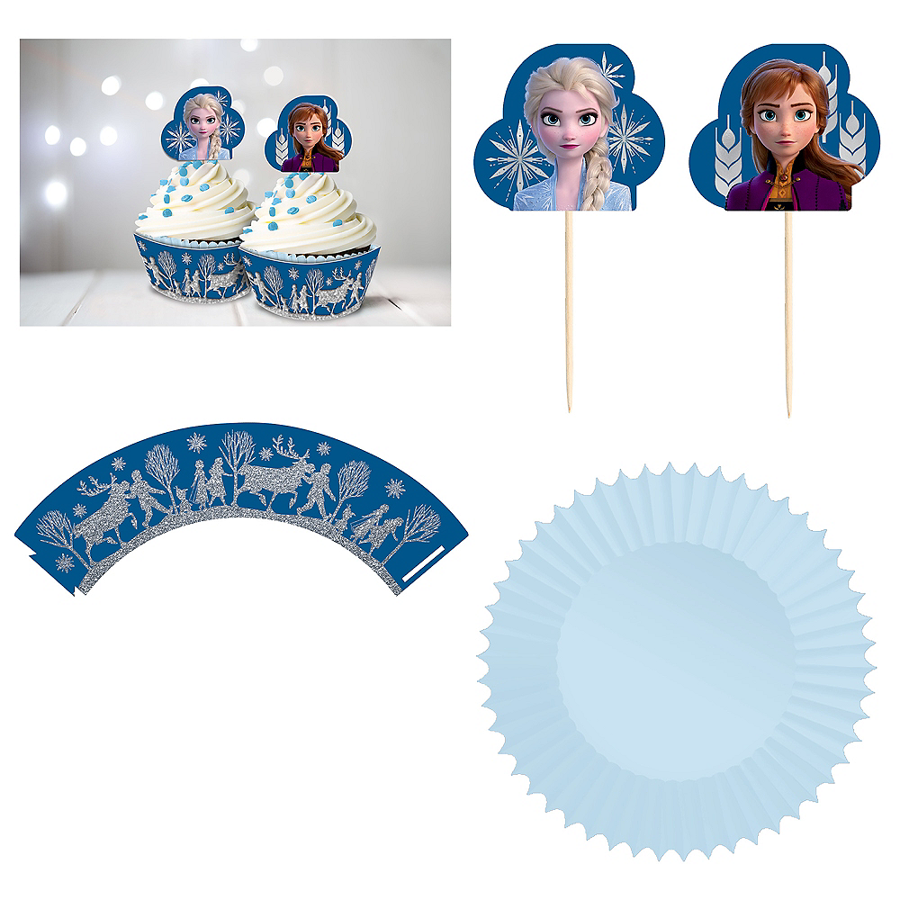 Glitter Frozen 2 Cupcake Kit for 24 Image #2