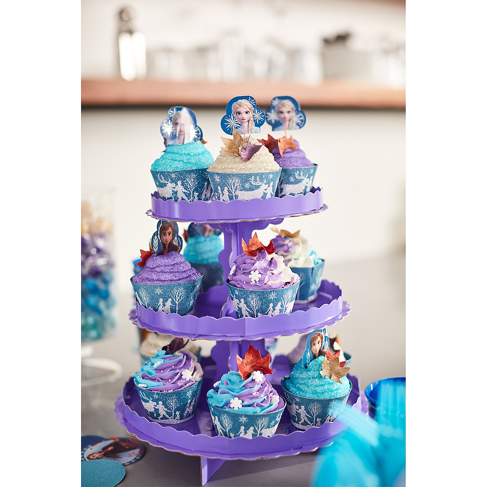 Glitter Frozen 2 Cupcake Kit for 24 Image #4
