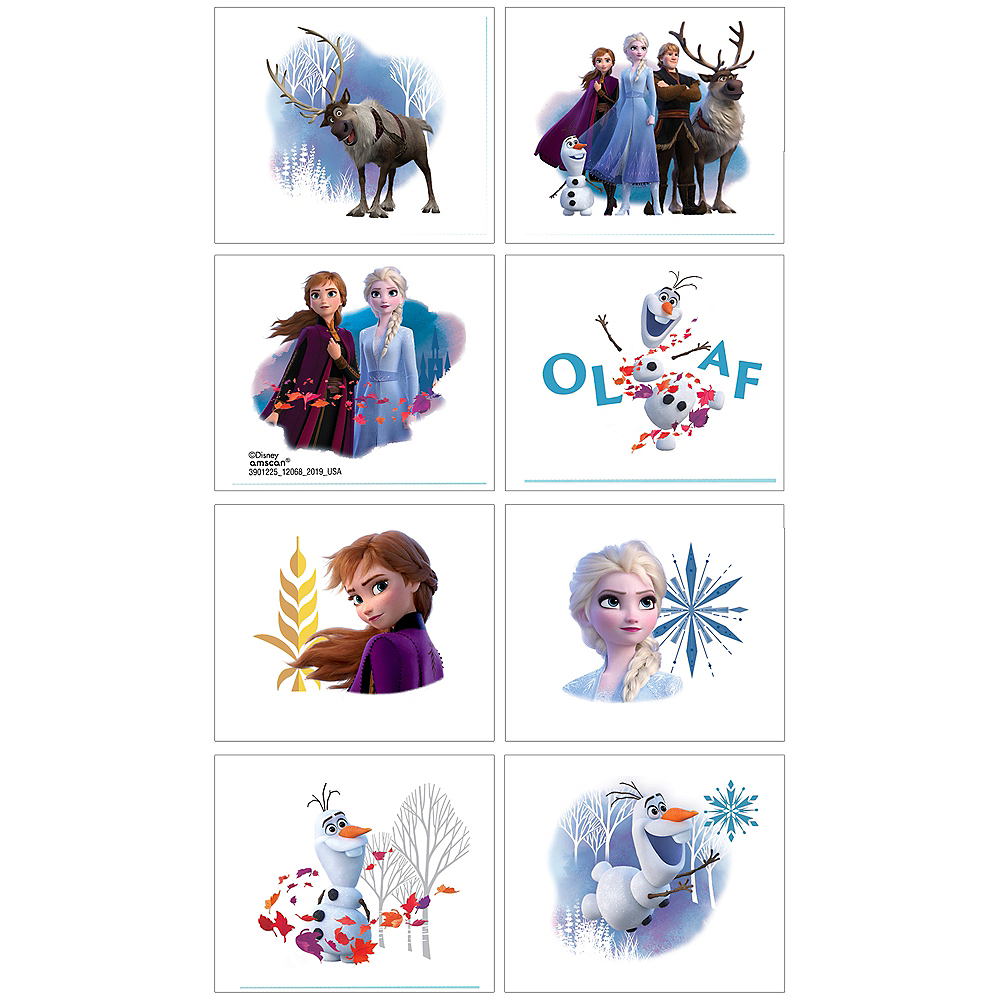 Frozen 2 Tattoos 1 Sheet Image #1