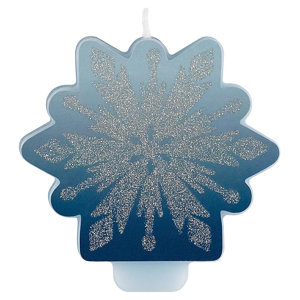Glitter Frozen 2 Birthday Candle Image #1