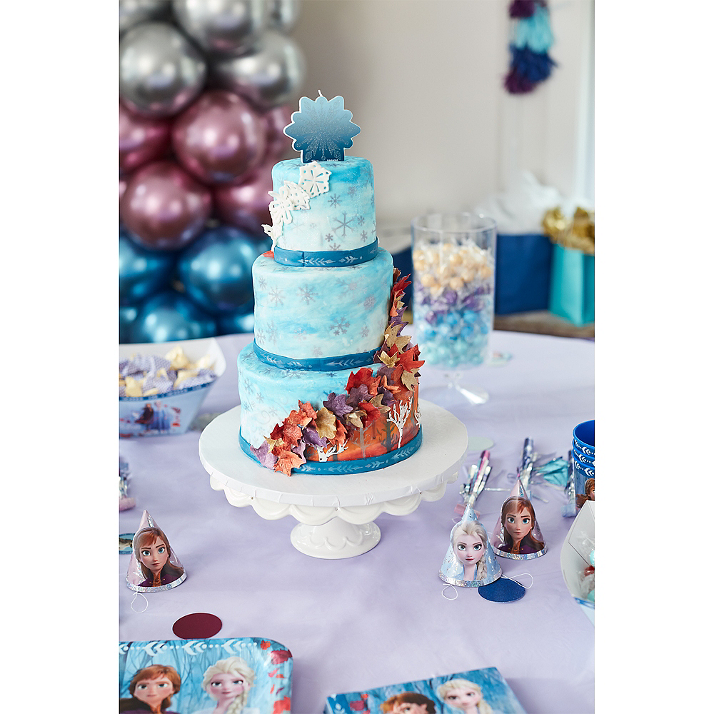 Glitter Frozen 2 Birthday Candle Image #2