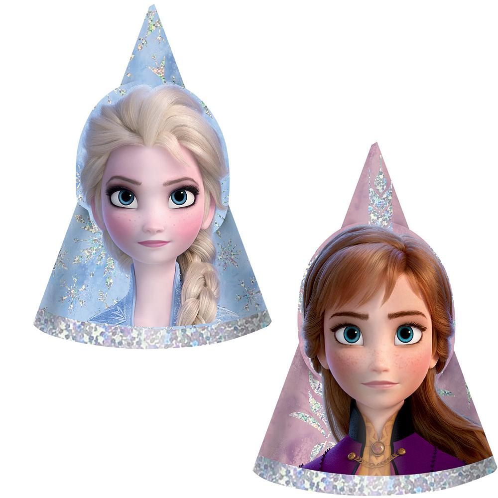 Mini Prismatic Frozen 2 Party Hats 8ct Image #1