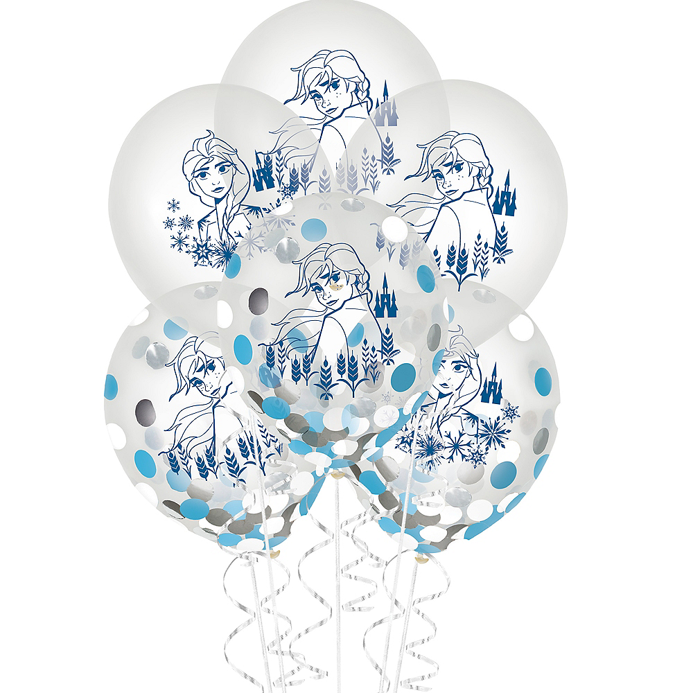 Frozen 2 Confetti Balloons 6ct Image #1