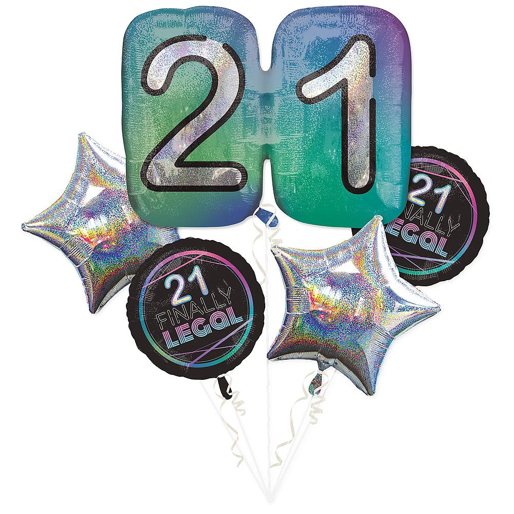 Finally 21 Balloon Bouquet 5pc Image #1