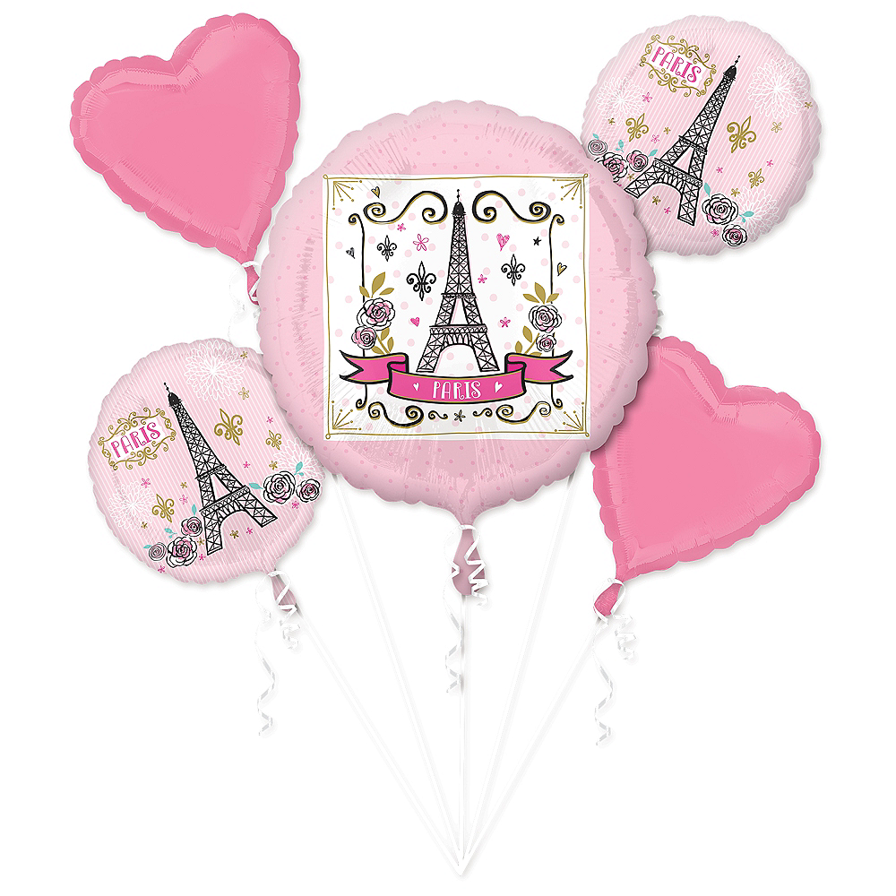 Oui Oui Paris Balloon Bouquet 5pc Image #1
