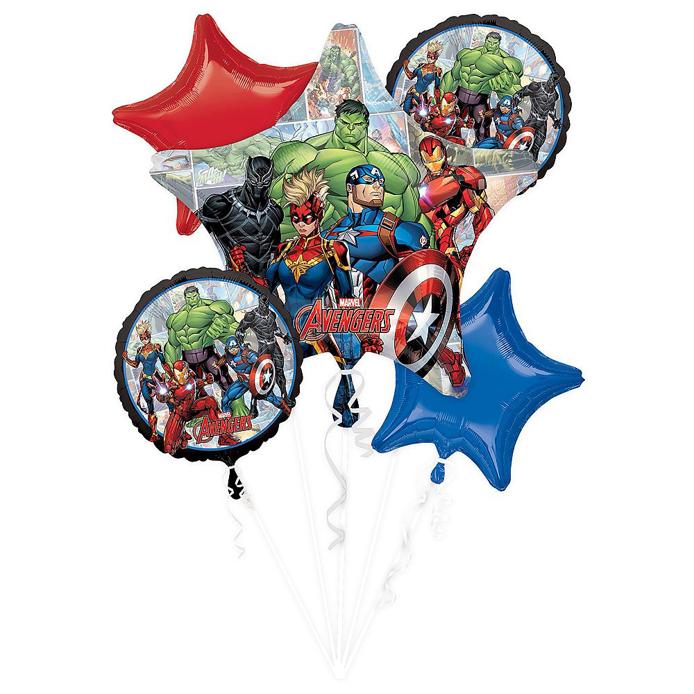 Marvel Powers Unite Balloon Bouquet 5pc Image #1