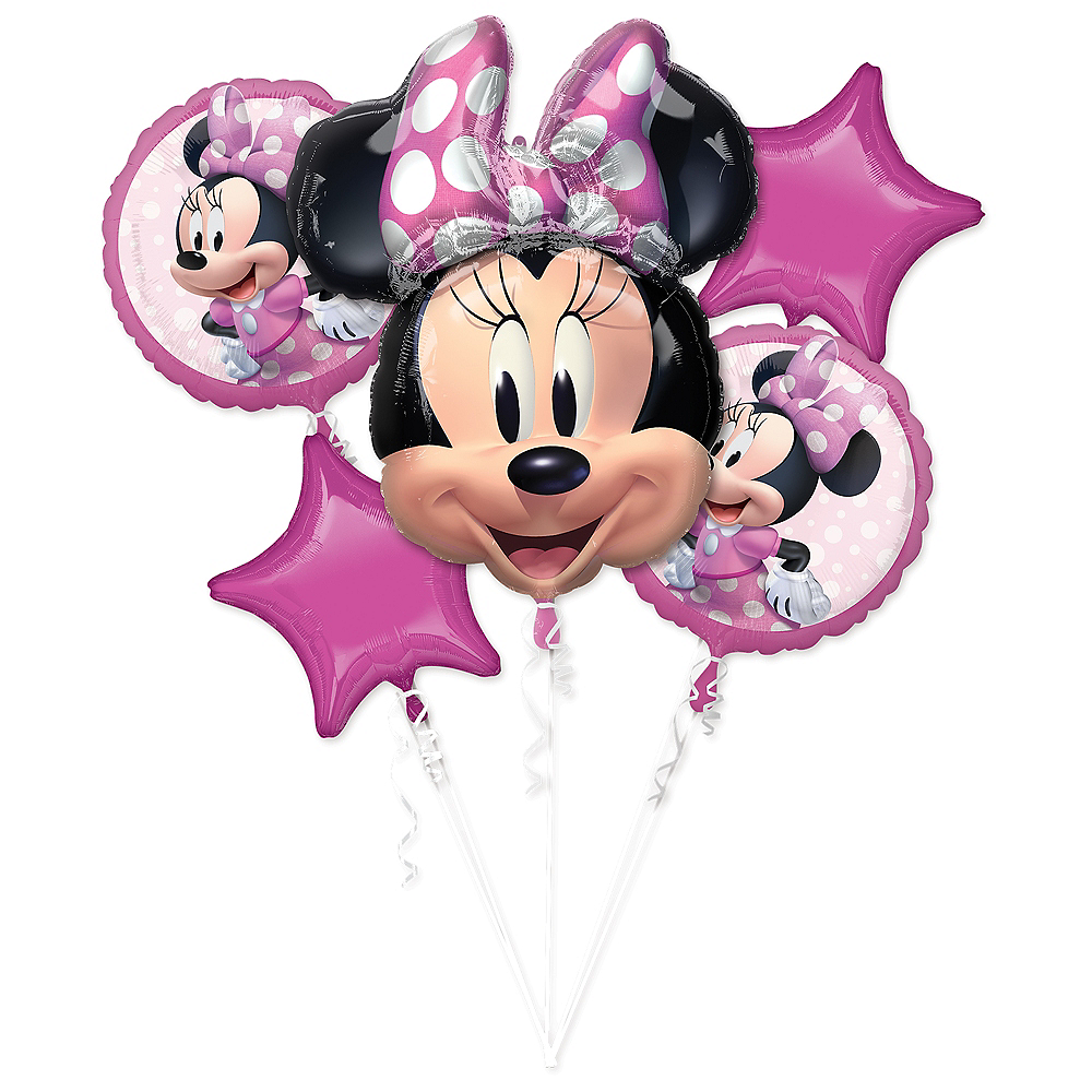 Minnie Mouse Forever Balloon Bouquet 5pc Image #1
