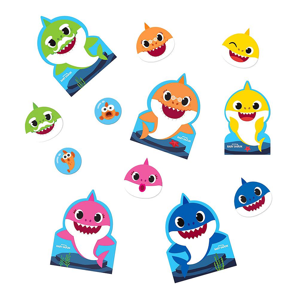 Baby Shark Cardstock Cutouts 12ct Image #1